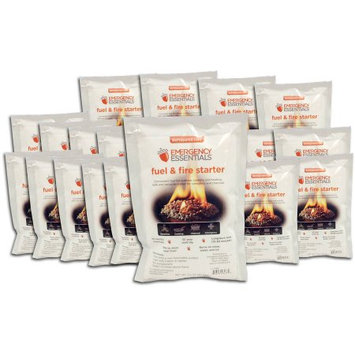 Emergency Essentials Fuel and Fire Starter Pouch, 3.2 oz, Pack of 20