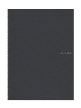 Fabriano EcoQua Notebooks spiral blank, black, 8.25 x 11.7 in. [pack of 2]
