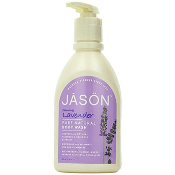 Lavender Satin Body Wash with pump-900 ml Brand: Jason Naturals