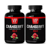 Dental care - CRANBERRY CONCENTRATED EXTRACT 252Mg 50: 1 - Cranberry concentrate pills - 2 Bottles 120 Softgels