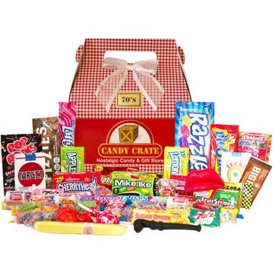Candy Crate Holiday 1970s Retro Candy Gift Box