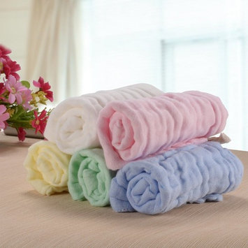 PChero 5 PCS (10'' x10'') Baby Muslin Washcloth and Towel for Sensitive Skin, Natural Organic Cotton Baby Wipes Soft Towels - Great Baby Shower Gift