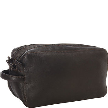 Derek Alexander Two Top Zip Travel Kit, Brown, One Size