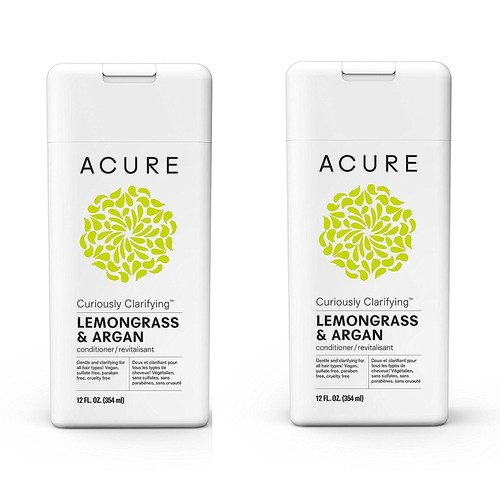Acure Curiously Clarifying Lemongrass Conditioner, 12 Fluid Ounces PACK-2