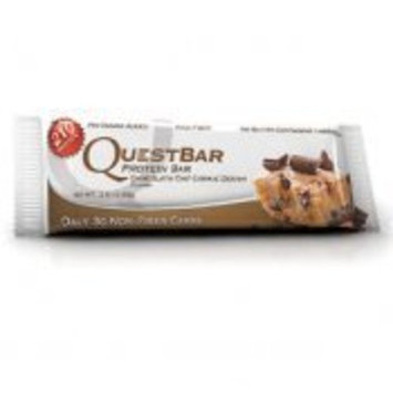 Quest Nutrition Protein Bar, Chocolate Chip Cookie Dough, High Protein Bars, Low Carb Bars, Gluten Free, Soy Free, 2.1 oz Bar, 12 Count, Packaging May Vary [Chocolate Chip Cookie Dough]