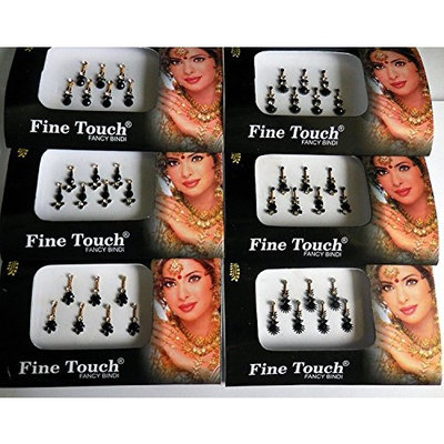 6 Full Pack Lot Assorted Multicolor Bindi Forehead Tattoos Stickers-BIN5A