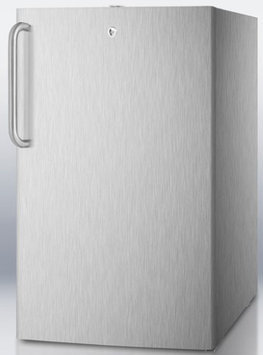 Summit CM411LCSSADA 4.1 Cu. Ft. Stainless Steel Undercounter Compact Refrigerator