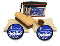 FeetPeople Deluxe Leather Care Kit with Travel Bag, Neutral