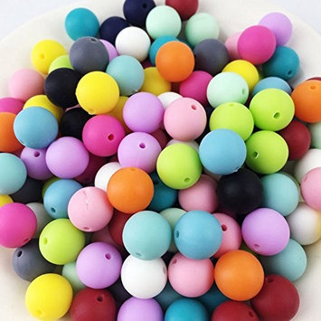 200pc 15mm Silicone Beads Round Loose Organic Nusring Baby Teething Balls Food Grade Sensory Infant Teether DIY Accessories
