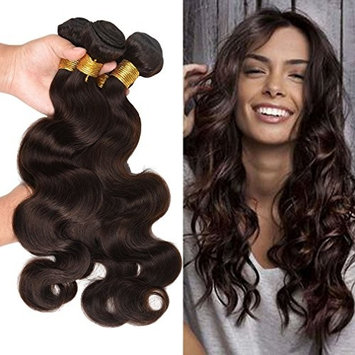 Fashion Lady Hair Brazilian Body Wave Weave Wefts Hair 3 Bundles Brazilian Virgin Remy Human Hair Extensions Deal With Mixed Lengths 10-24 Inch 100g/Bundle... []