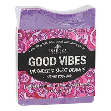Essenza - Gourmet Body Bar Soap Good Vibes Lavender & Sweet Orange - 5 oz. [Lavender & Sweet Orange]