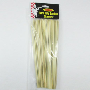 Atb 100 Ct Bamboo Skewers 10 Inch Wood Sticks BBQ Kabob Fondue Grilling Party Grill