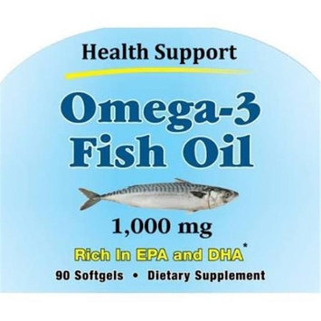 Health Support 515297 90 SFG Omega 3 Fish Oil - Case of 12