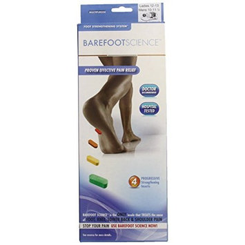 Barefoot Science 4 Step Multi Purpose Insoles, Full Length, Size Large