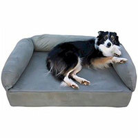 Snoozer Luxury Sofa Pet Bed - Small / Memory Foam / Toro Cocoa