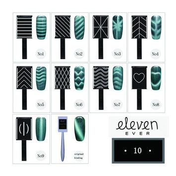 ELEVEN EVER 10pcs/set Cat Eyes Magnet Stick for Cat Eye Gel Polish Nail Art Manicure Tool 3D Effect UV Gel Tools