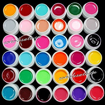 ReNext 36 Colors Solid Pure Mix Color UV Builder Gel Acrylic Set for Nail Art Tips