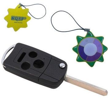 HQRP 4 Button Key Fob for Honda Accord 2003 2004 2005 2006 03 04 05 06 Folding Flip Modified Shell Remote Case+ HQRP UV Meter