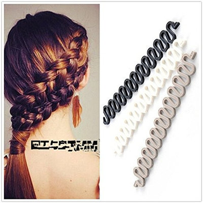 2Pcs Simple Unisex Black Spring Wave Wavy Metal Hair Band Girl Men Women Head Band Headband Hairband Accessory Couple Lover Gift