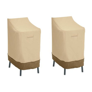 Classic Car Accessories Classic Accessories Veranda Patio Bar Chair/Stool Cover - Durable and Water Resistant Patio Cover, 2-Pack