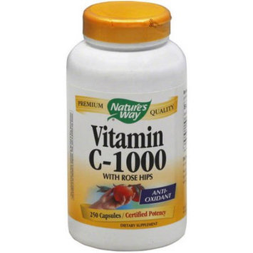 Natures Way Vitamin C 1000 W Rosehips, 250 PC
