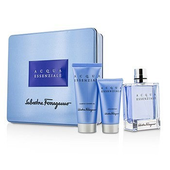 Salvatore Ferragamo Acqua Essenziale Coffret: Eau De Toilette Spray 100Ml/3.4Oz + After Shave Balm 50Ml/1.7Oz + Shower G