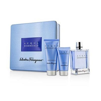 Salvatore Ferragamo Acqua Essenziale Coffret: Eau De Toilette Spray 100Ml/3.4Oz + After Shave Balm 50Ml/1.7Oz + Shower G