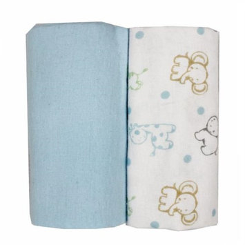 Rose Textile 5910 Flannel Receiving Blankets Blue - Pack of 2