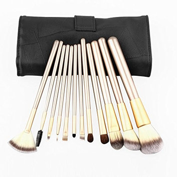 Makeup Brush Set ShineMore Make Up Brushes (12PCs Come With A Soft Leather Bag)