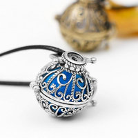 Lava Stone Aromatherapy Essential Oil Diffuser Necklace 2 Garden Style Pendant Locket with a 24