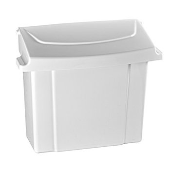 Alpine Sanitary Napkins Receptacle - Feminine Hygiene Products, Tampon & Waste Disposal Container - Durable ABS Plastic - Seals Tightly & Traps Odors -Easy Installation Hardware Included
