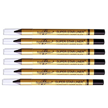 6 Pc Diana of london super star black eyeliner single stroke smudge proof, long stay ( Sealed with latest stock)