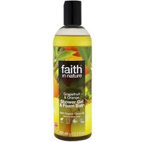 Faith in Nature, Shower Gel & Foam Bath, Grapefruit & Orange, 13.5 fl oz (400 ml) [Scent : Grapefruit & Orange]