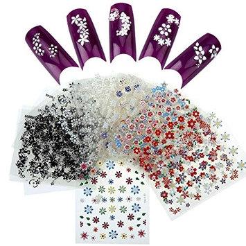 ACEVIVI Fashion 3D Nail Stickers Decal Set 50pcs