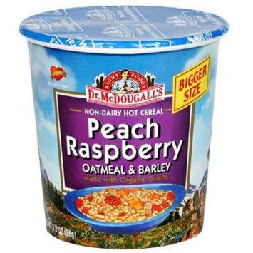 Dr. McDougall's Peach Raspberry Non-Dairy Oatmeal & Barley, 3 oz, (Pack of 6)