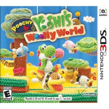 Nintendo Games Poochy & Yoshi's Wooly World + Yarn Poochy Amiibo Nintendo DS (Dual-Screen) [NDS