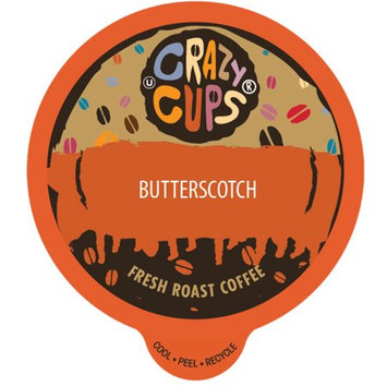 Crazy Cups Flavored Coffee, for the Keurig K Cups 2.0 Brewer, Butterscotch, 22 Count