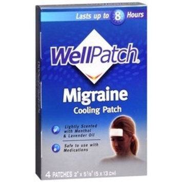 Well Patch Migraine Cooling Patch - 4 ea
