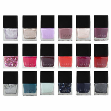 Nicole Miller Nailed It Nail Polish Set, Nail Lacquer DIY Home and Gift Kit for Fingernails and Toenails, 18 Trendy and Glossy Colors (Metallic, Glitter, Gold, Silver, Reds, Blues and Purples)