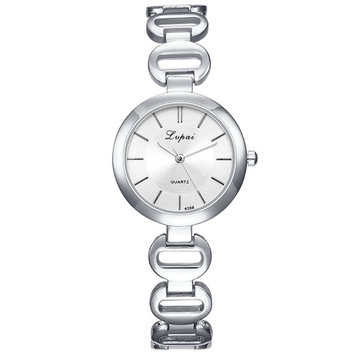 lupai silver-tone white dial luxury watch for women 30mm