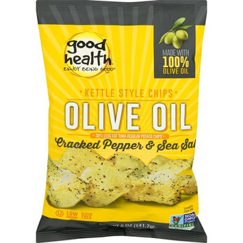 Good Health Olive Oil Kettle Style Chips with Cracked Pepper & Sea Salt 5 oz. Bag