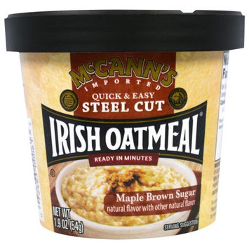 McCann's Instant Oatmeal Cup, Maple and Brown Sugar, 1.9 OZ (Pack of 4)