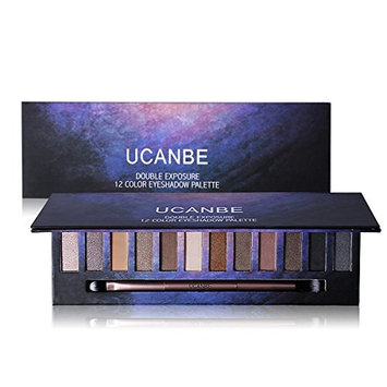 Professional Shimmer Eye Shadow Palette ? Pigmented Eye Shadow Long wear Waterpoof with Eyeshadow Blending Brush Applicator Ucanbe (edition 1)