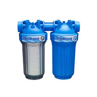 Pelican Water 5 GPM 10 in. Whole House Chlorine Filtration Water Dispenser Filtration System, White And Blue