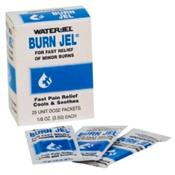 Burn Jel 100% Water Soluble Sterile 1/8 oz. 6 Boxes (150 packs) by Waterjel - MS46285
