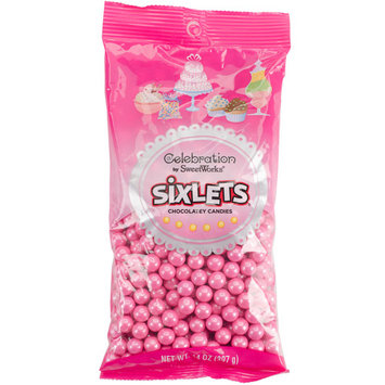 Celebrations By Sweetworks Sixlets(R) 14oz-Shimmer (TM) Bright Pink
