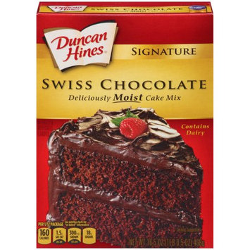 Pinnacle Foods Duncan Hines Signature Cake Mix, Swiss Chocolate, 16.5 Oz