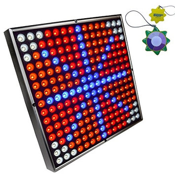 HQRP 225 LED QUAD-BAND Light Panel for growing Peppers, Lettuce, Cucumbers + Hanging Kit