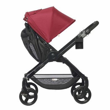Ergobaby Stroller, Travel System Ready, 180 Reversible with One-Hand Fold, Red