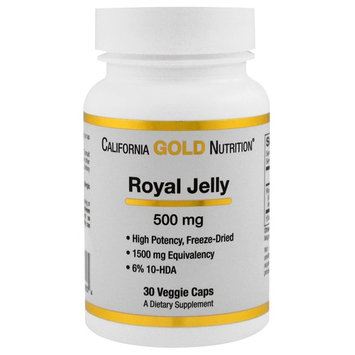 California Gold Nutrition, Royal Jelly, 500 mg, 30 Veggie Caps [Package Quantity : 30 Veggie Capsules]